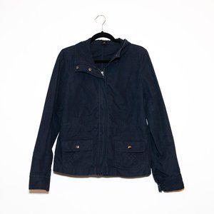 Ann Taylor Navy Cotton Jacket 10